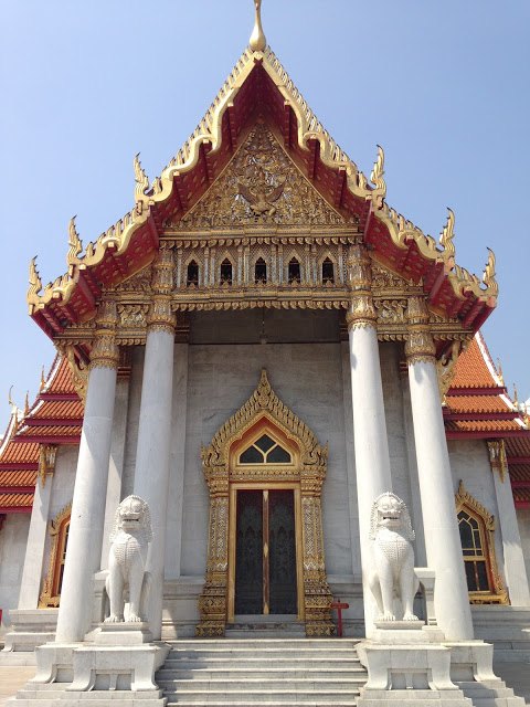 the Marble Temple in Bangkok, Thailand