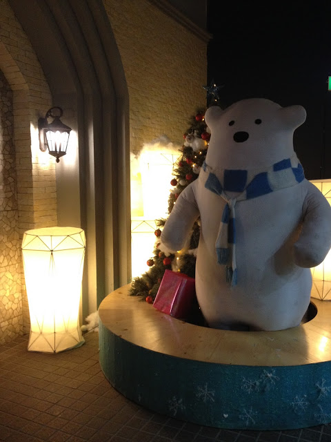 snow town bangkok ekkamai polar bear  decoration