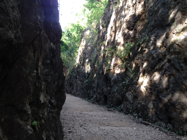 konyu cutting through a mountain at hellfire pass in Kanchanaburi, Thailand