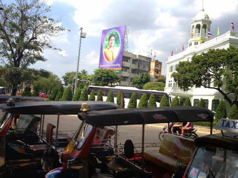 A fleet of Bangkok tuk tuks