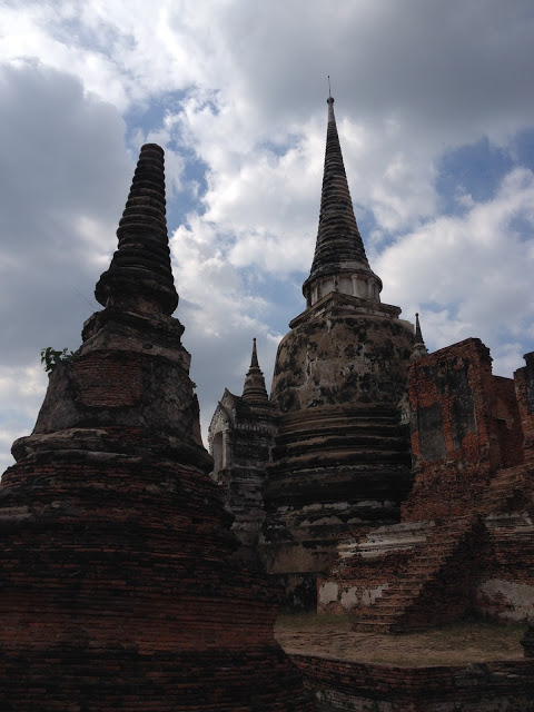 temple and palace ruins in Thailand