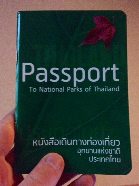 cover to the thai national park passport