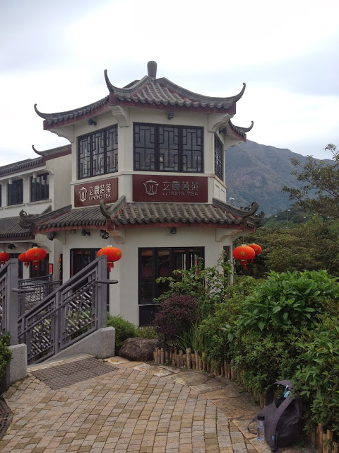 a tea house in the mountains of Hong Kong's Ngong Ping Village