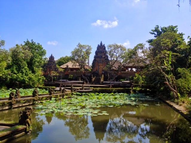 Balinese hindu water temple in Ubud