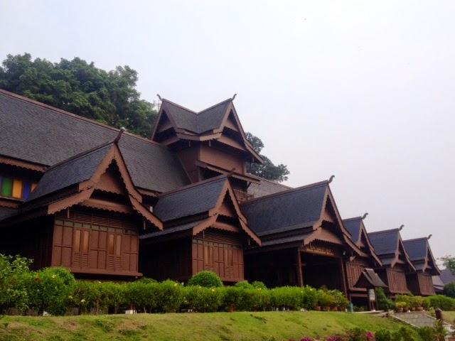wooden malaysian style palace of the Sultan of Malacca (Melaka), Malaysia