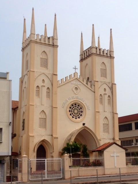 gothic-style church of St. Francis Xavier in Malacca, Melaka, malaysia