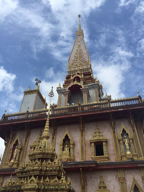 famous Buddhist temple at Wat Chalong, Phuket, Thailand