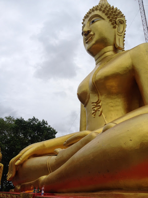 golden Buddha statue in Pattaya, Thailand