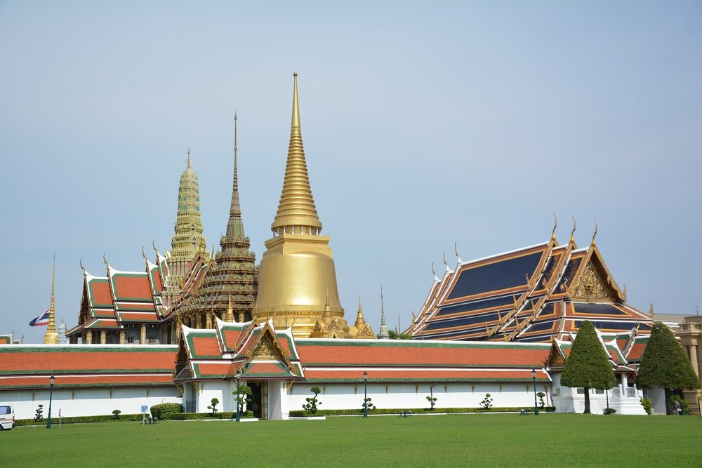the temple of the emerald buddha, bangkok, thailand