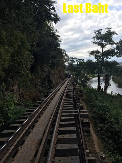 raised railway tracks along the wangpo viaduct in kanchanaburi, Thailand