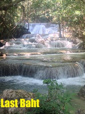 waterfall at erawan National Park in Kanchanaburi, Thailand