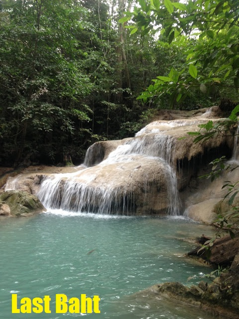 waterfall at erawan National Park in Kanchanaburi, Thailand