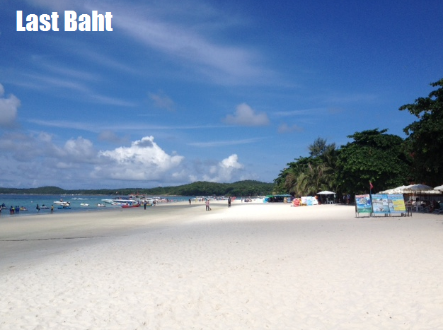 white sand beaches and blue skies on Koh Samet Island, Thailand