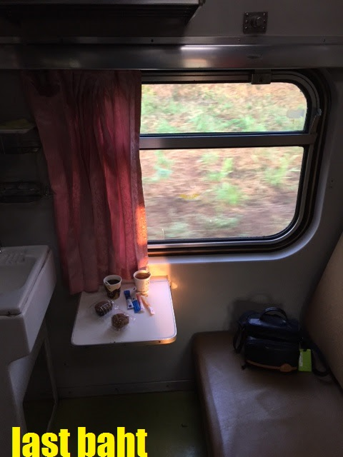 an old first class compartment on a Thai night train