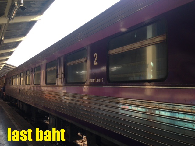 old purple thai night train at the station