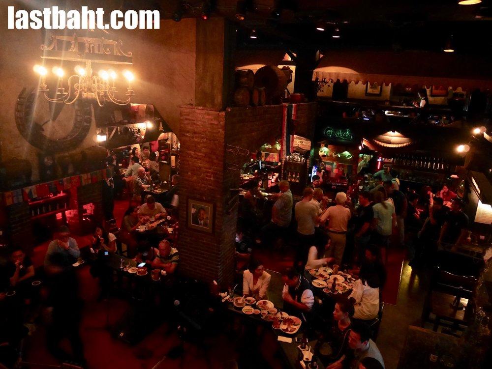 interior of Saxophone Pub, Victory Monument, Bangkok