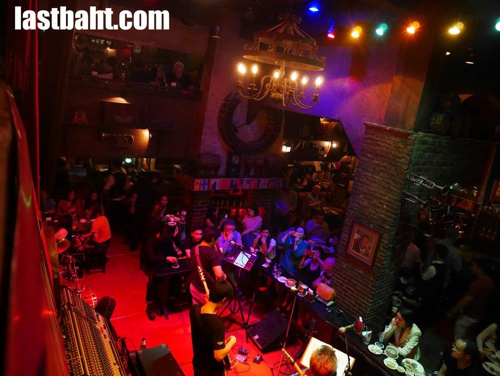 live music at Saxophone Pub, Bangkok, Thailand