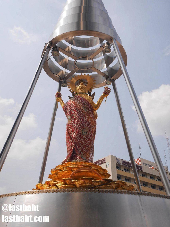 The Lakshmi Shrine looking out across Bangkok