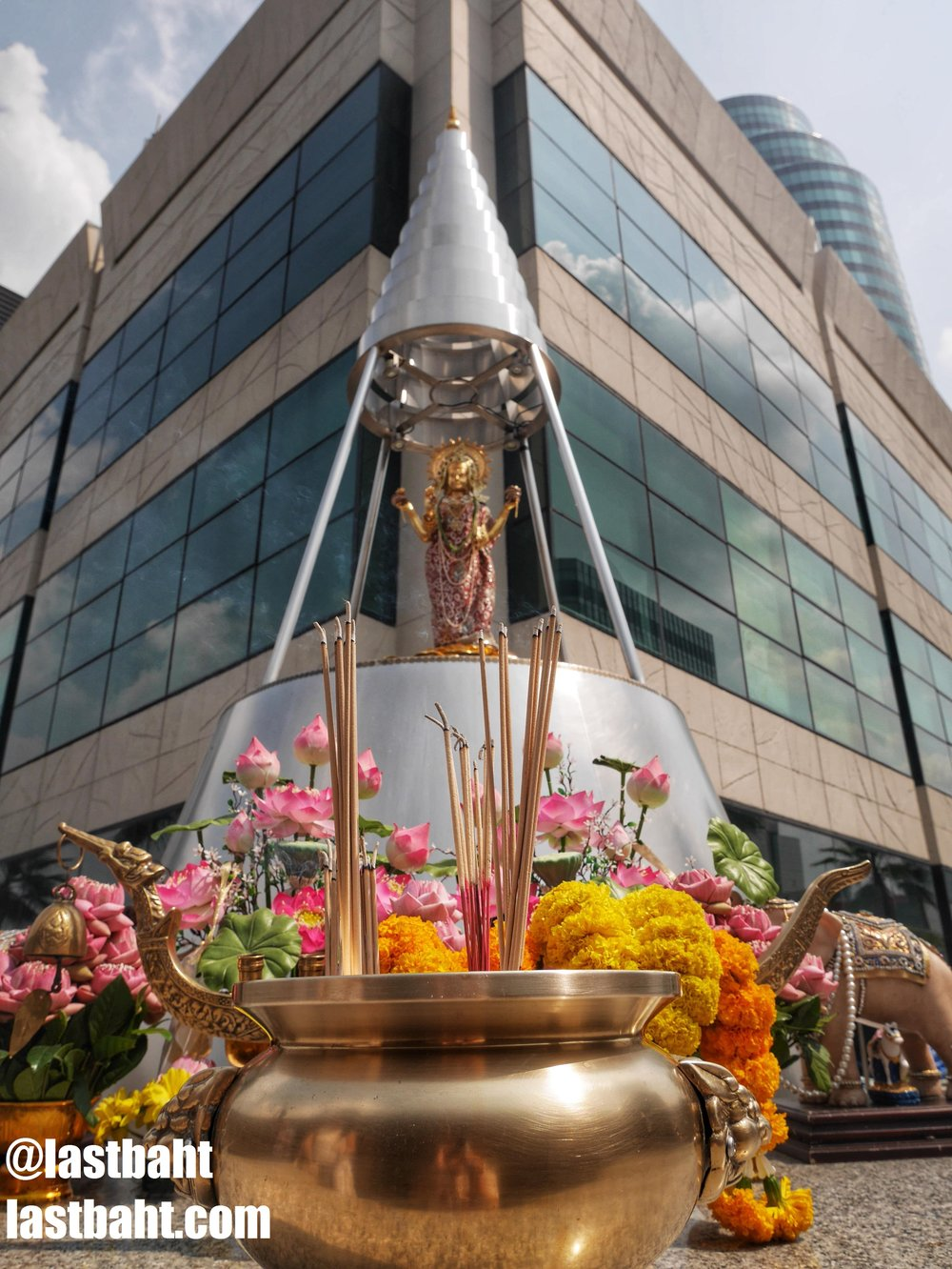 Shrine to Lakshmi at Gaysorn Plaza in Bangkok