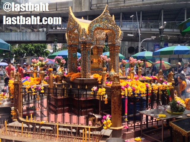 Shrine to Brahma in Bangkok