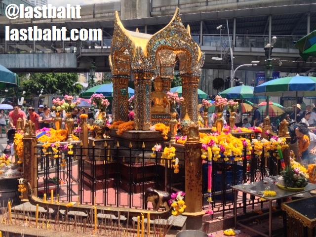Shrine to Brahma in Bangkok