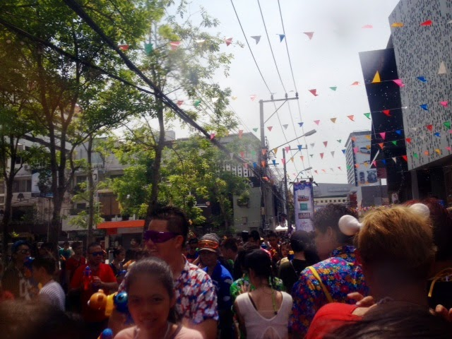 Wild Songkran party at Siam Square, Bangkok. Grab a water gun and join in the fun!