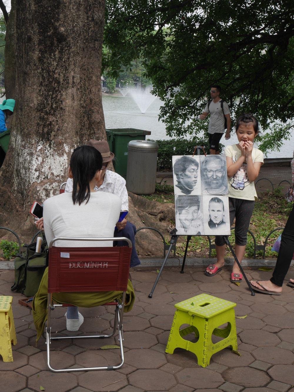 Activities on weekends around Hoan Kiam Lake, Old quarter of Hanoi