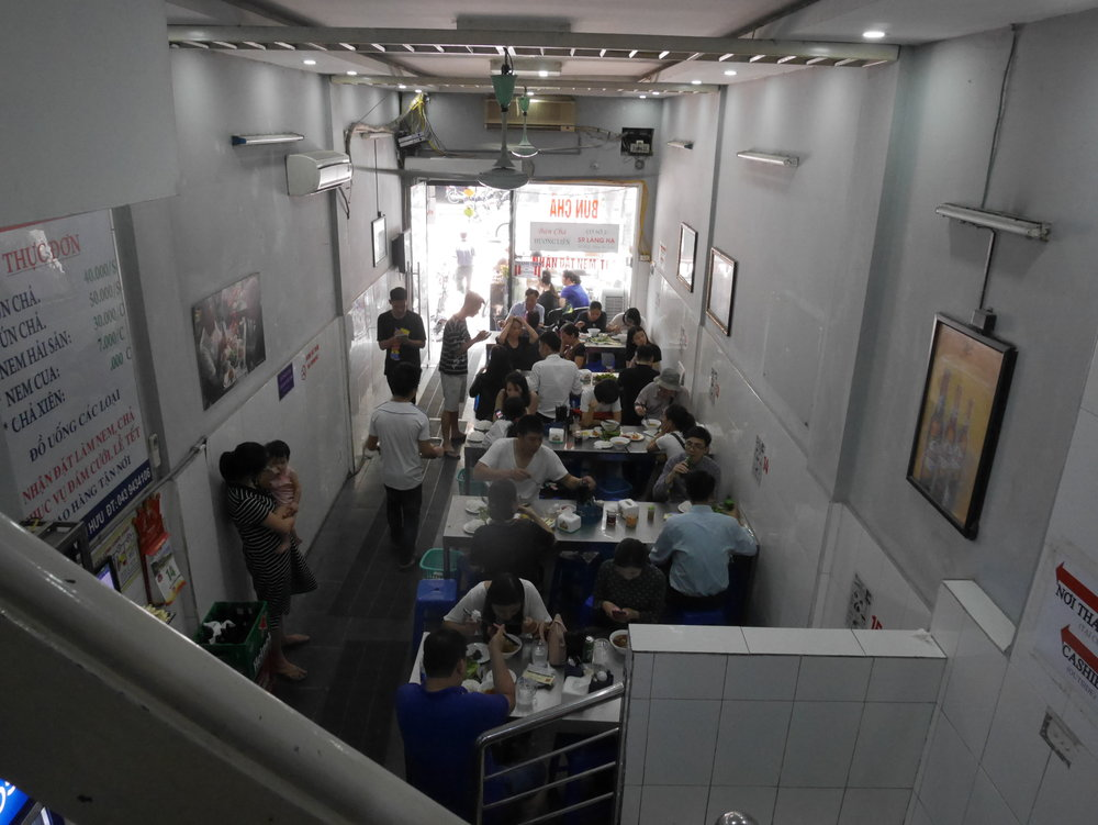 It was so busy inside the shop! All three floors were packed with hungry people.