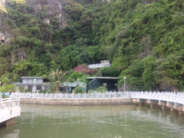 walkway leading to the cave