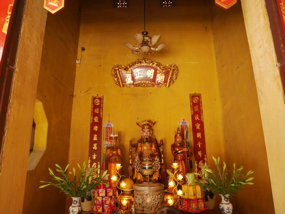 a small shrine at the temple