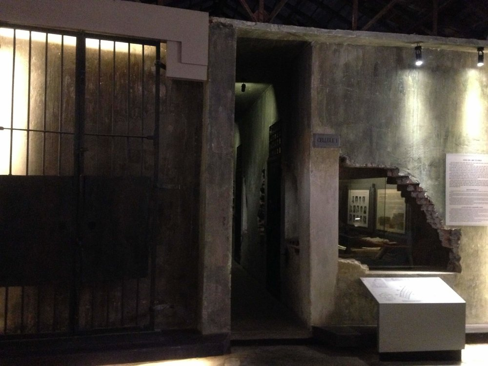inside the Hoa Lo Prison