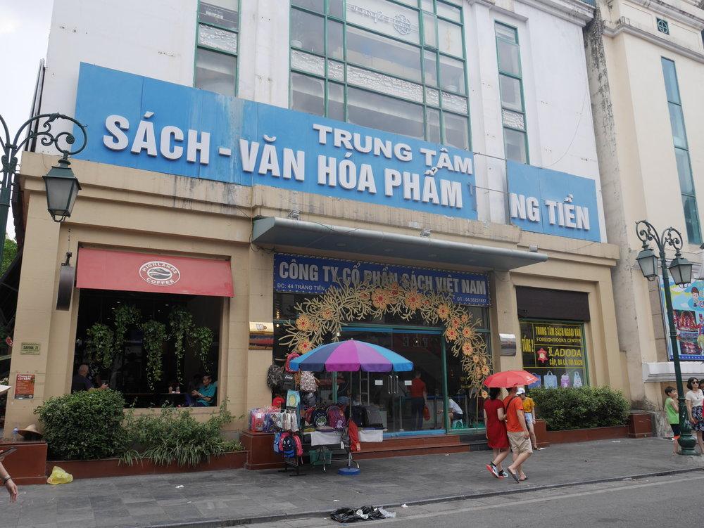 Bookshops near Hoan Kiem Lake, Hanoi's Old Quarter