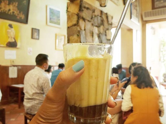 Original Egg Coffee by Giang Cafe... yes EGG🥚! Taste like milkshakes or melted Icecream. SO DELICIOUS. Mr. Nguyen Giang invented this menu in 1946 when Vietnam was lack of milk. I ❤️ Egg coffee. . . #vietnam #hanoi #eggcoffee #coffee #coffeelover #delicious #foodie #yum #photography #travelblogger #traveller #instagood #wanderlust