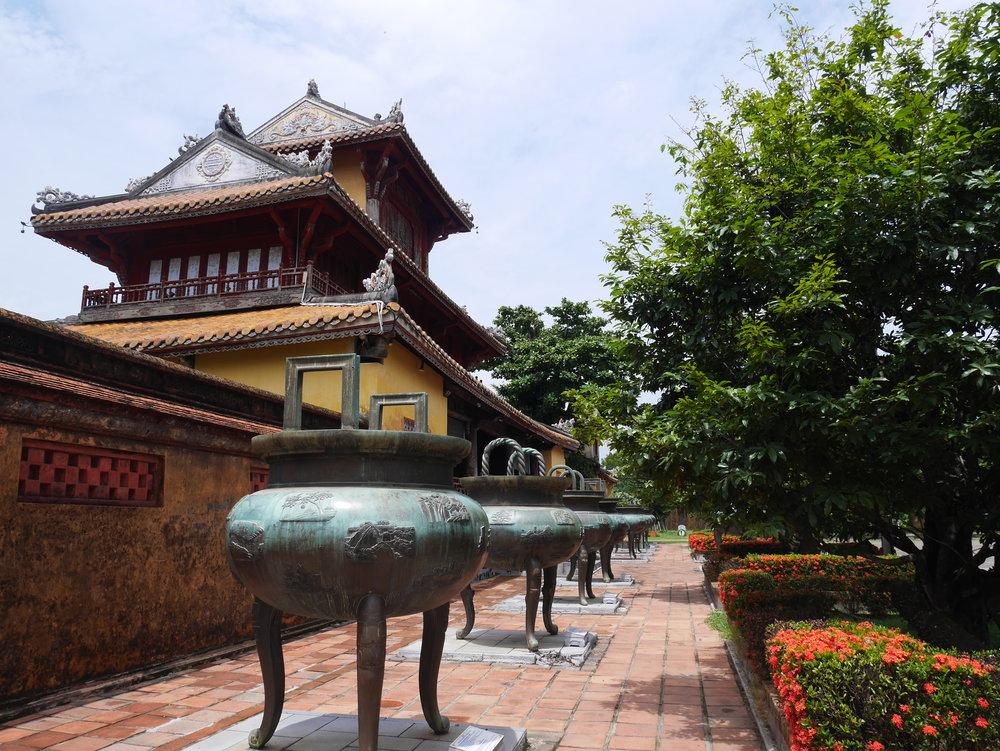 imperial urns in Hue, Vietnam