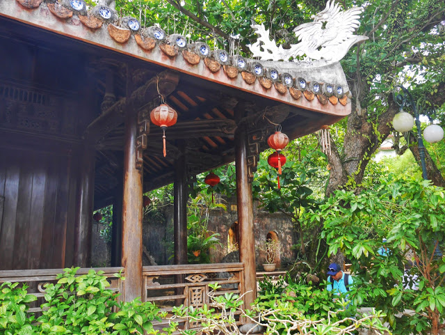 one of the temples outdoors
