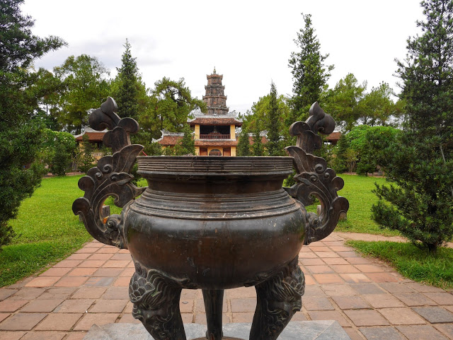 incense burner at the Celestial Lady Pagoda, Hue