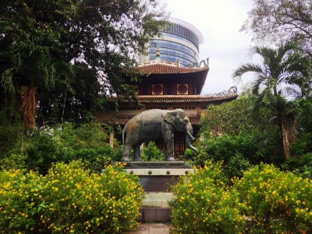 memorial shrine at Saigon Zoo