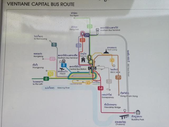 Vientiane, Laos bus lines