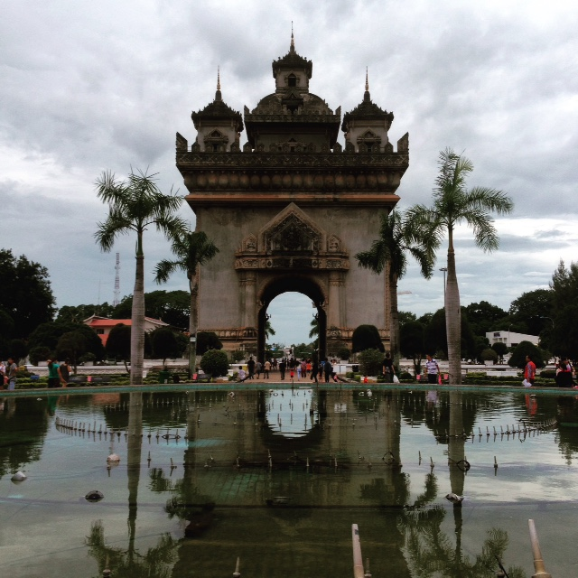 Patuxai, the Laotian Arc de Triomphe
