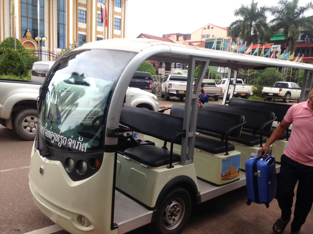 pick up by electric golf cart
