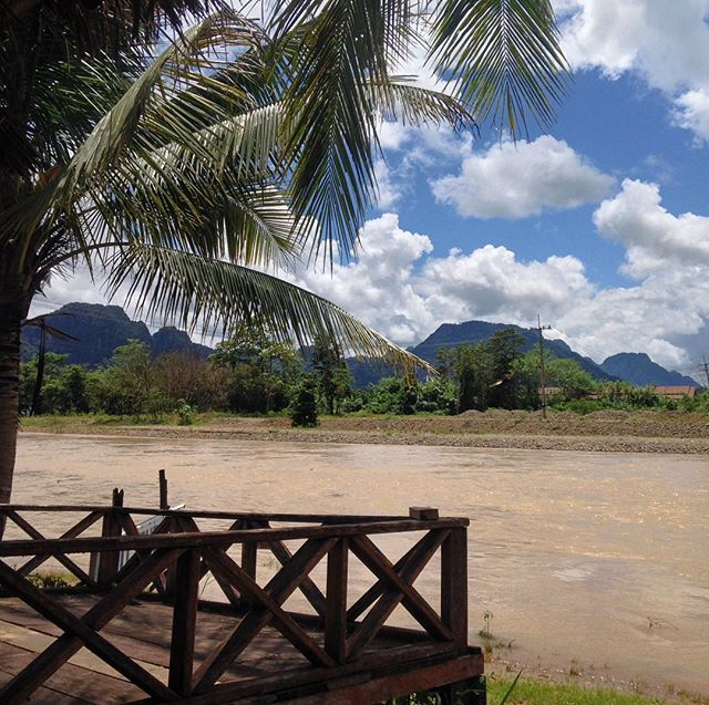 Not quite ready to leave #VangVieng and the idyllic #river setting that you can find there, but it's almost time to head on to #LuangPrabang. #laos #laos🇱🇦 #travel #peace #relax #asia