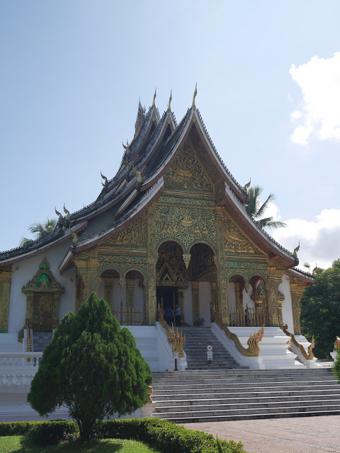 the exterior of the royal temple in Luang Prabang