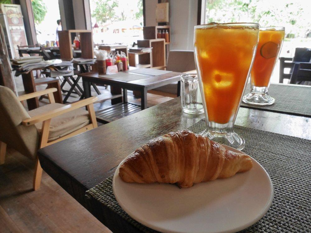 famous croissant at Le Banneton, Luang Prabang, Laos