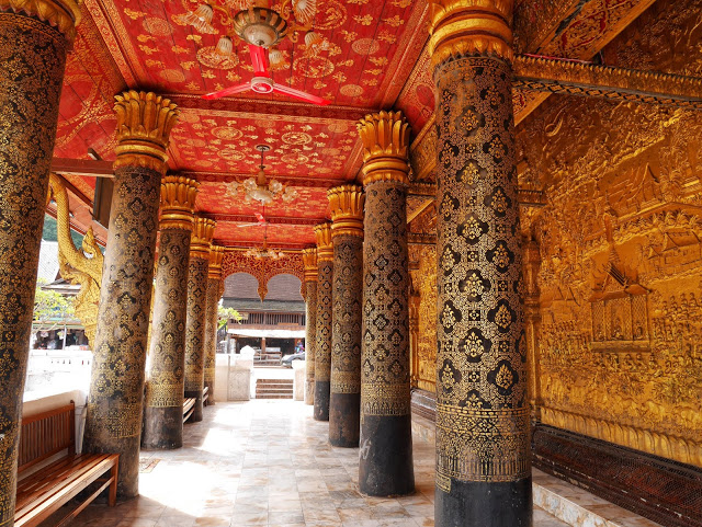 golden veranda at Wat Mai, Luang Prabang