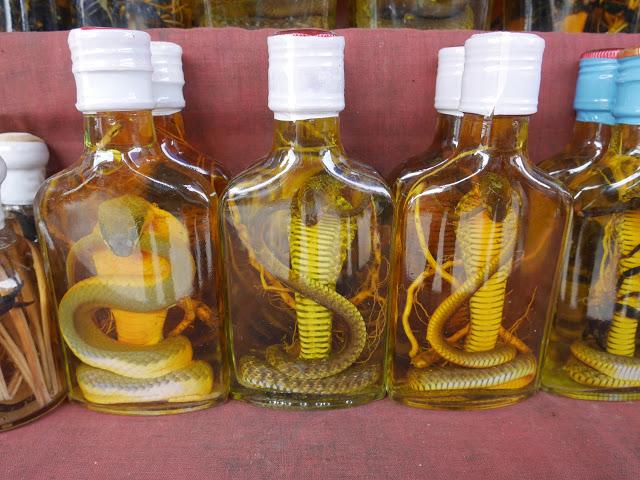 Lao snake whisky
