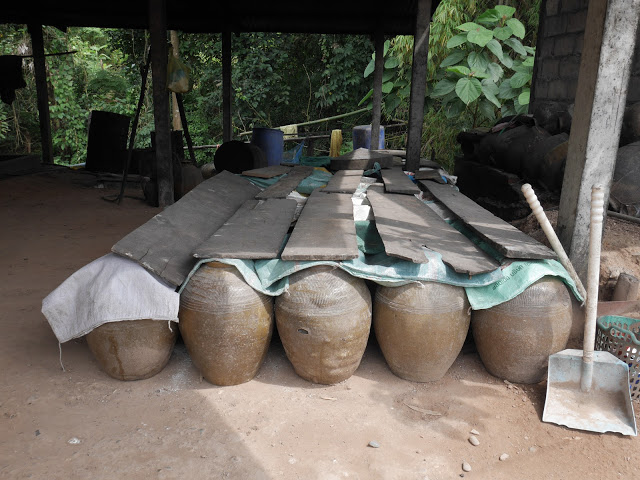 lao-lao rice alcohol fermentation jugs