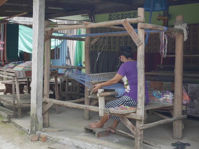 traditional weaving skills in Laos