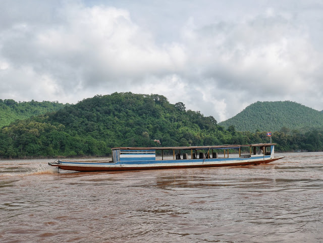 boating along the Mekong River