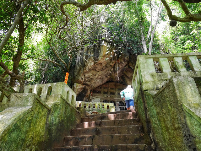 steep steps through the jungle
