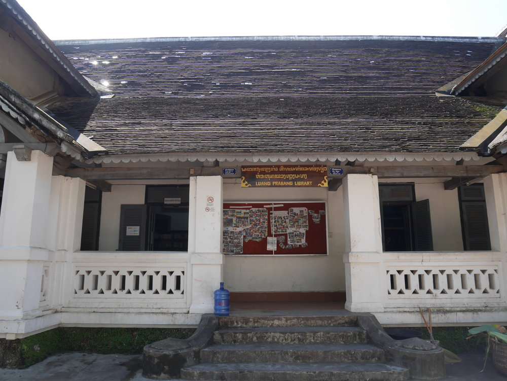 visiting the Luang Prabang Public Library